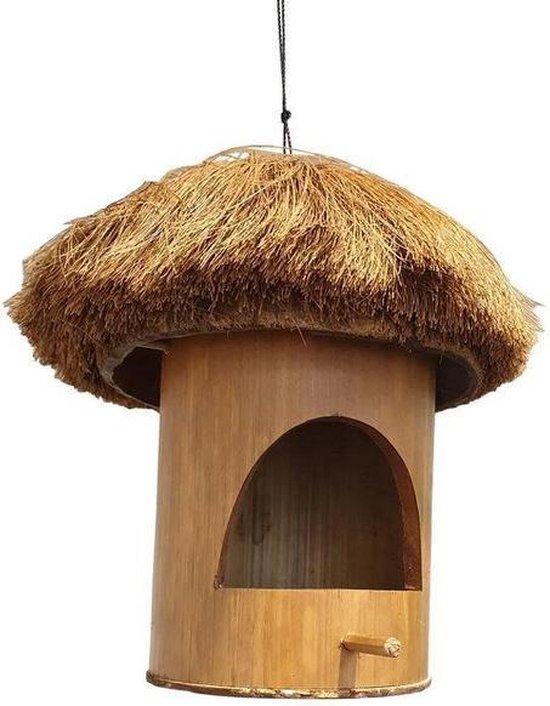 Vogelhuisje van bamboe en Kokosnoot 30cm