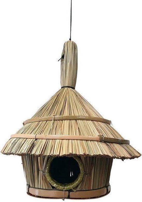 Vogelhuisje van stro, 30cm