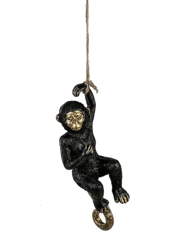 Hangende decoratie Aap zwart